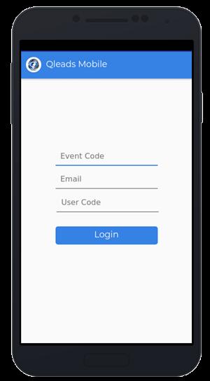 Event Leads Login screen