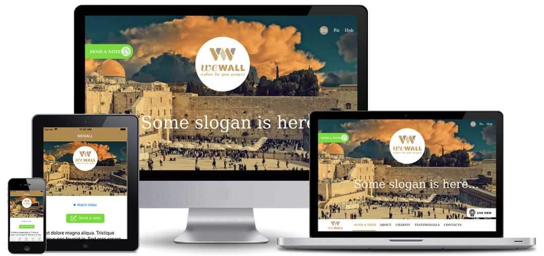 We Wall multiple screens design