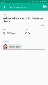 Message In Time view message