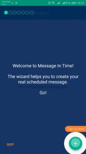 Message In Time wizard