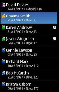 Birthday In Time list