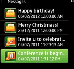 Message In Time Symbian messages