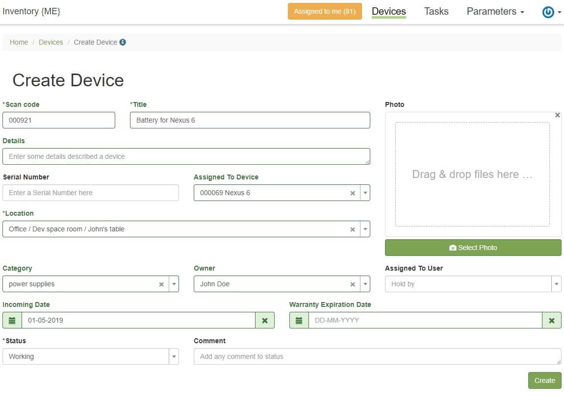 Inventory Web Server